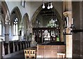 SK6813 : Gaddesby: St Luke - interior by John Sutton