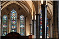 TQ3181 : Stained Glass Window, Temple Church, London EC4 by Christine Matthews