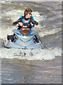 SX9980 : Fun on the water - jetski at Exmouth by Chris Allen