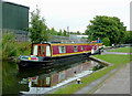 SP1491 : Narrowboat leaving Minworth Middle Lock, Birmingham by Roger  Kidd