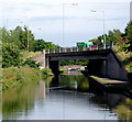 SP1592 : The A38 crossing the canal near Minworth, Birmingham by Roger  Kidd