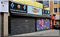 """J3474 : """"To let"""" shop, Belfast (19) by Albert Bridge"""