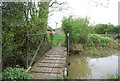 TQ0524 : Footbridge, Wey South Path by N Chadwick