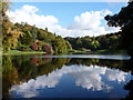ST7734 : Stourhead: eastward view across the lake by Chris Downer