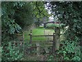 SY3498 : Stile at Woodcote by Richard Dorrell