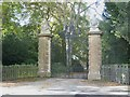 SJ8458 : Gates to Ramsdell Hall by John Harrison