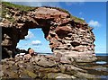 NT7673 : A natural arch at Bilsdean by Walter Baxter