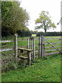 SP8728 : Stile on the path to Hollingdon by Philip Jeffrey