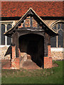 TL4610 : Porch, Church of St Mary at Latton, Harlow by Julian Osley