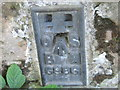 NJ5265 : Ordnance Survey  Flush Bracket G986 by Peter Wood