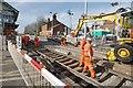 TF4958 : Railway Crossing, Wainfleet by Dave Hitchborne
