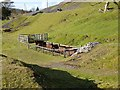 NS8613 : Old railway wagons at Wanlockhead by Oliver Dixon