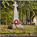 NY4756 : War Memorial and Church, Holme Eden by David Dixon