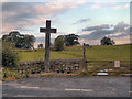 NY9369 : Cross at Heavenfield by David Dixon
