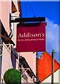 SO6775 : Addison's (2) - sign, 53 High Street, Cleobury Mortimer by P L Chadwick