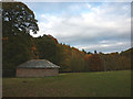 NY5124 : Stone barn beside the river, Lowther Park by Karl and Ali