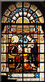 TQ3081 : St George, Bloomsbury - Stained glass window by John Salmon