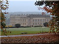 SK2670 : Autumn view of Chatsworth House by Andrew Hill