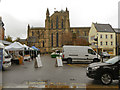 NY9364 : Hexham, Market Place and Abbey by David Dixon