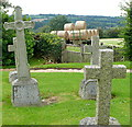 SP1819 : Little Rissington churchyard by Graham Horn