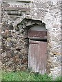NJ6958 : Door, Eden Castle by Richard Webb