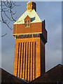 TQ7667 : Medway hospital laundry water tower (2) by David Anstiss