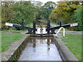 SJ6049 : Baddiley Middle Lock near Ravensmoor, Cheshire by Roger  Kidd