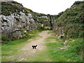 SW7050 : Disused quarry on the flank of St Agnes Beacon by Richard Law