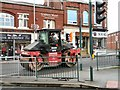 SJ9594 : Road roller on Market Street by Gerald England