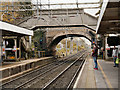 SJ8478 : Alderley Edge Station Footbridge by David Dixon