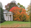 TQ1876 : Temple of Bellona with autumn colour at Kew by David Hawgood