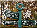 SJ8894 : Cyclepath Signpost, Fallowfield Loop Line by David Dixon
