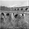 SJ9590 : Aqueduct and viaduct over Goyt valley, 1961 by Robin Webster
