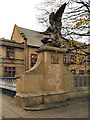 SJ9698 : Angel and Solidier, Stalybridge War Memorial by David Dixon
