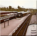NH9418 : Boat of Garten railway station from the footbridge by Elliott Simpson