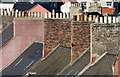 NT6878 : Chimney stacks and pots at Dunbar by Walter Baxter