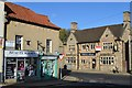 SK4770 : Bolsover -&quot;The White Swan&quot; and town centre shops by Neil Theasby