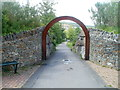 ST1097 : An entrance to Taff Bargoed Millennium Park, Trelewis by John Grayson