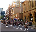 TQ2979 : Military Band in Buckingham Gate London by PAUL FARMER