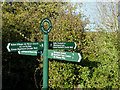SJ6353 : New signpost near Acton, Cheshire by Roger  Kidd