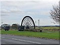 NZ1847 : Burnhope Village Pit wheel by Oliver Dixon