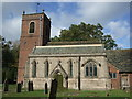 SJ8067 : St Peter's church, Swettenham by Dave Kelly