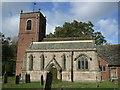 SJ8067 : St Peter's church, Swettenham by Dave Kelly