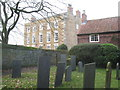SK7730 : Churchyard and Old Rectory, Stathern by Jonathan Thacker