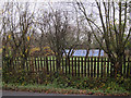 TL4463 : Photovoltaic cells behind the trees by Hugh Venables