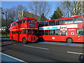 TQ2977 : London Routemaster Bus 24 in Grosvenor Road Pimlico by PAUL FARMER