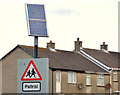 J4980 : Solar panel, Bangor by Albert Bridge