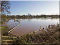 SP2661 : Flooded fields north of Barford by David P Howard