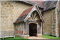 SU9936 : Entrance porch, Church of St Mary's and All Saints' by Nigel Chadwick