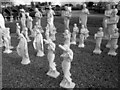 SJ7243 : Garden Statues at Bridgemere by Jeff Buck
